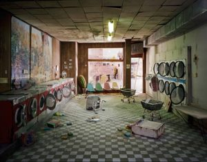 The City: Laundromat by Lori Nix